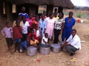 nieuwe kookfaciliteiten gedurende het eet, play en learn project